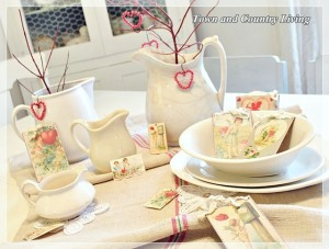 White Ironstone, Valentines, and a Magazine Shoot
