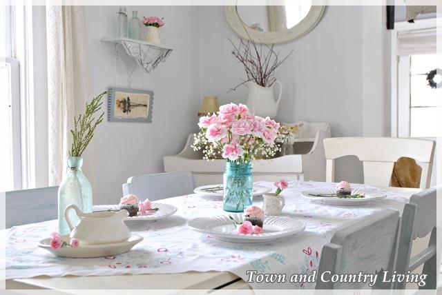 Pink Carnations in Mason Jar