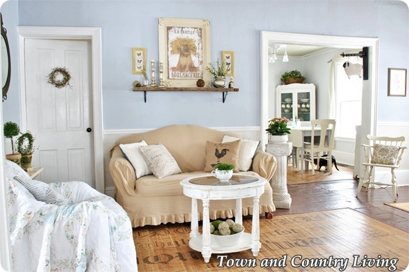 country living rooms. Living Room Spring Tiptoes through the  Town Country