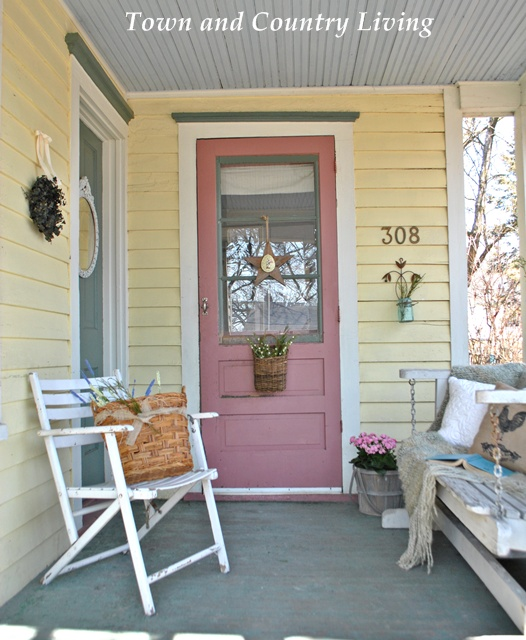 My Farmhouse Porch Is Anxious For Spring Town Country