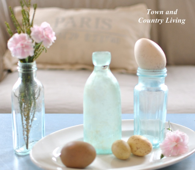 Easter Eggs and Aqua Bottles