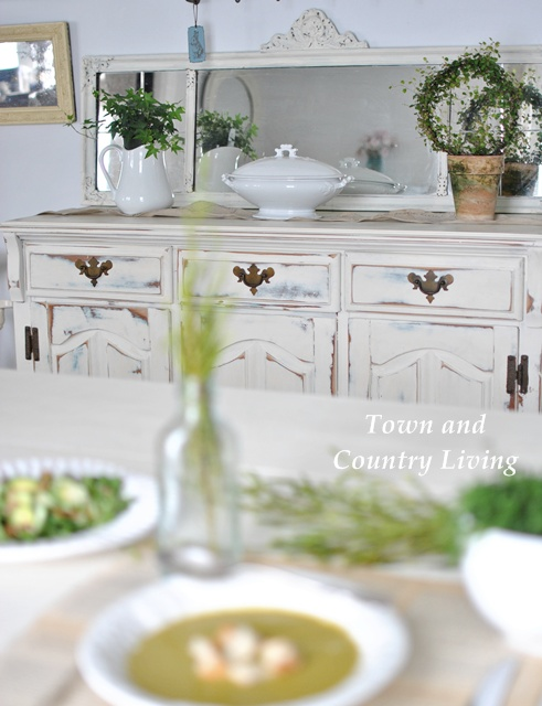 Greens in the Dining Room
