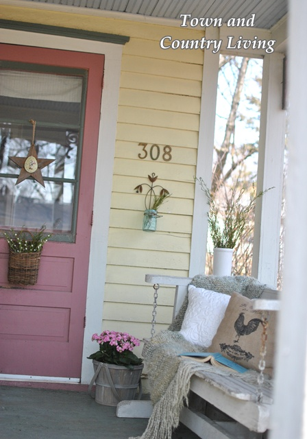 My Farmhouse Porch Is Anxious For Spring Town Country Living