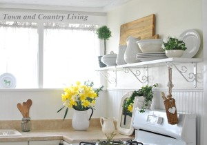 Open Shelving in our Farmhouse Kitchen