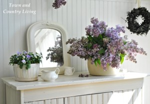 Decorating with Lilacs and White Ironstone