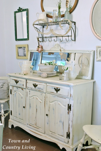 Dining buffet in Old White Annie Sloan Chalk Paint