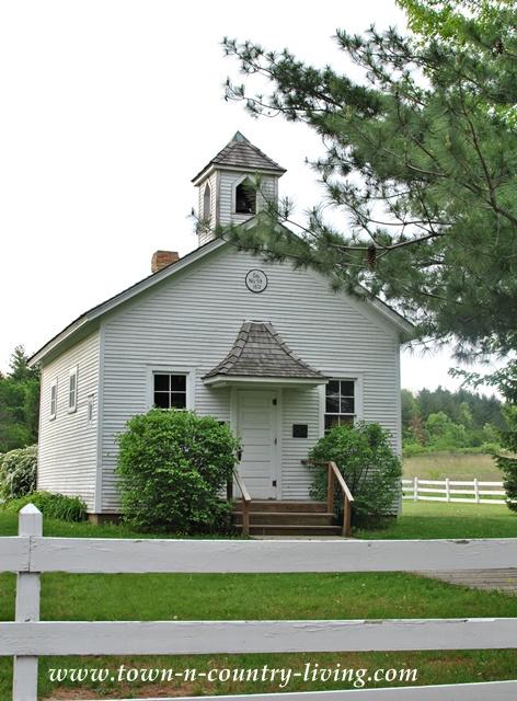 Shabby White Pioneer Sholes School