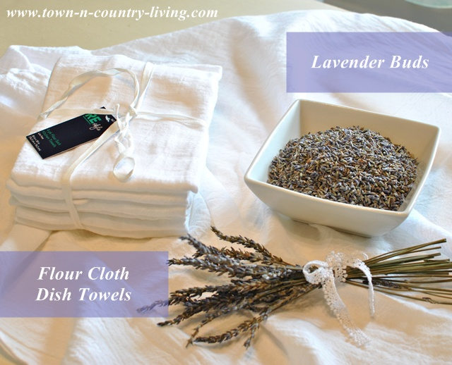 Supplies for Making Lavender Sachets