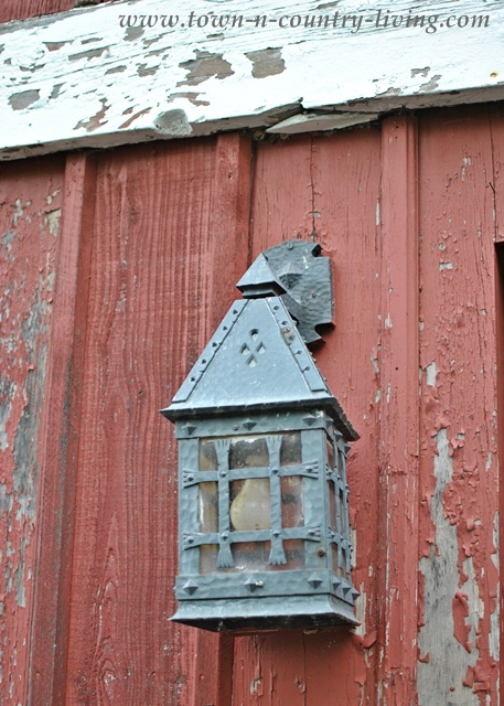 Iron Lantern on a Midwestern Barn