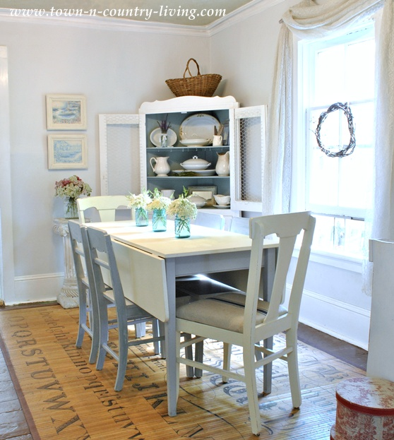 Take a tour of my cottage style farmhouse town country for Cottage style kitchen chairs