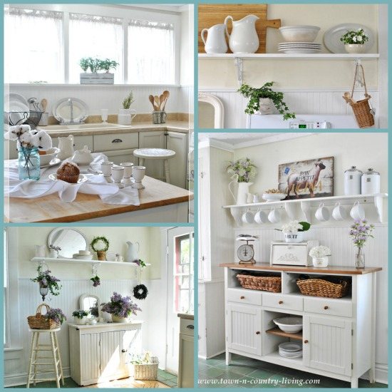 Kitchen-Collage via Town and Country Living