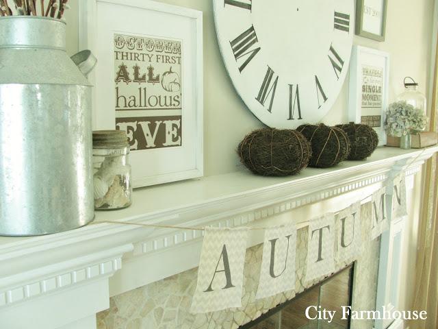 Fall Mantle from City Farmhouse - www.cityfarmhouse.com