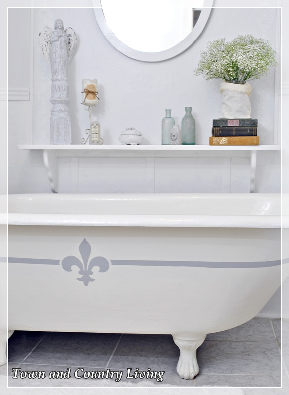 Claw foot tub at Town and Country Living