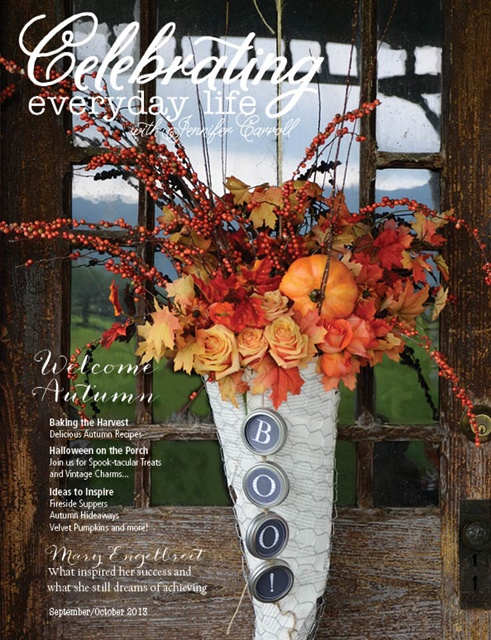 Celebrating everyday life magazine fall issue town