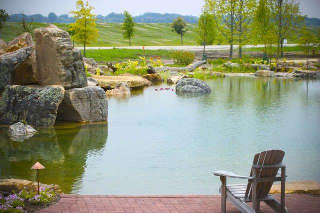 Aquascape Ecosystem Pond via Town and Country Living
