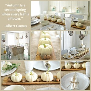 Autumn Decorating with Baby Boo Pumpkins