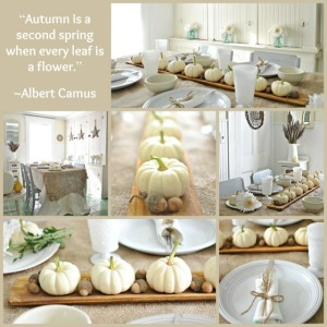Autumn Decorating with Baby Boos via Town and Country Living