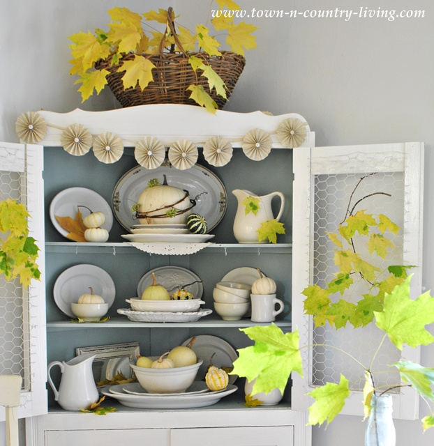 Farmhouse Style Fall Hutch