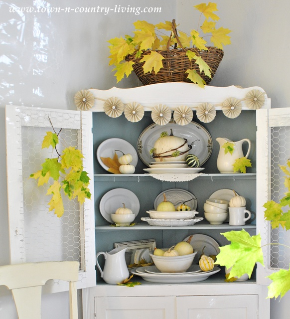 My Farmhouse Style Fall Hutch - Town & Country Living