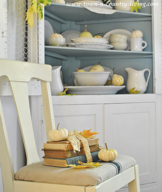 Town and Country's Farmhouse Fall Hutch