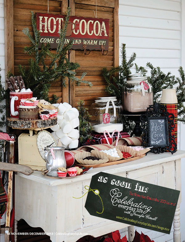 Delightful Country Christmas Party Ideas Part - 5: Cocoa Party Decor From Celebrating Everyday Life Magazine