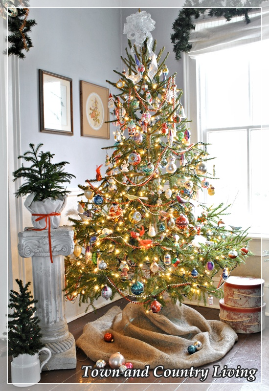 Victorian style Christmas tree by Town and Country Living