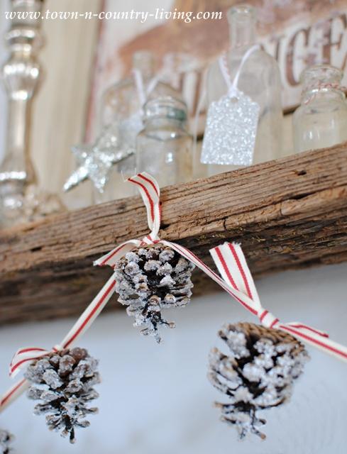 Christmas pine cone garland