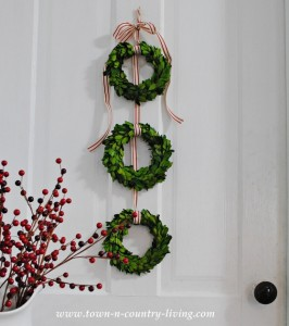 DIY Christmas Decor – Trio of Boxwood Wreaths