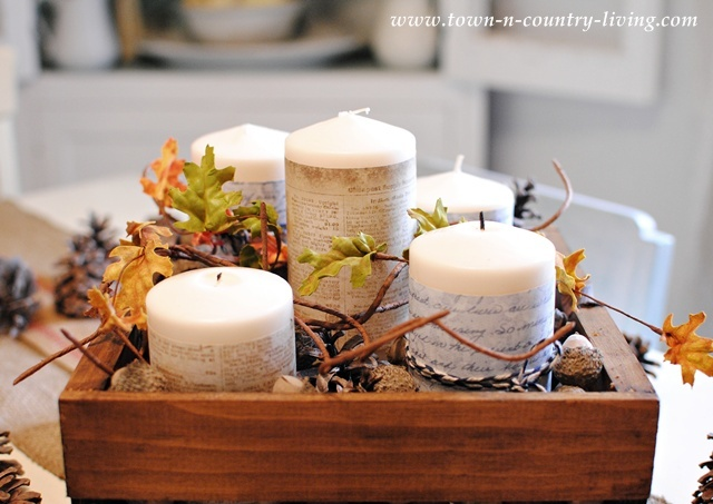 Creating a fall vignette via Town and Country Living
