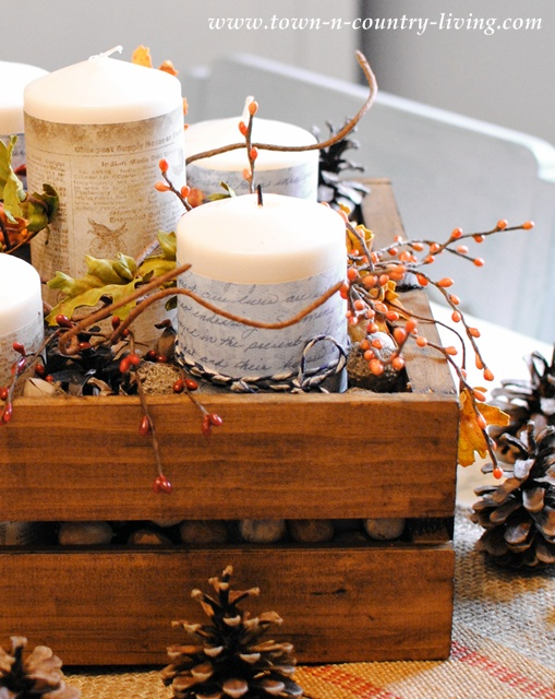 How to create a fall centerpiece via Town and Country Living