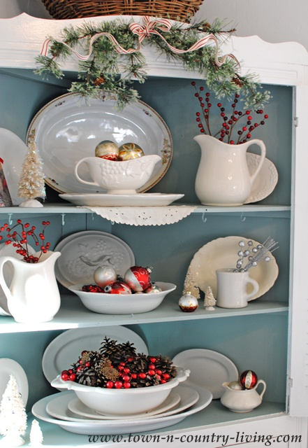 Red and White Christmas theme at Town and Country Living