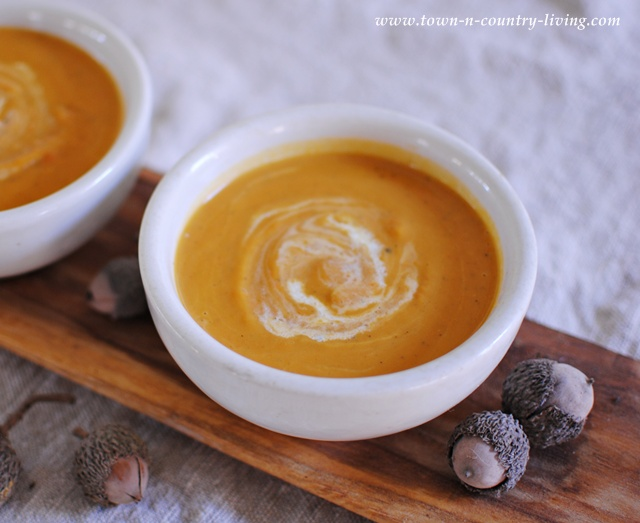 Savory Butternut Squash Soup via Town and Country Living