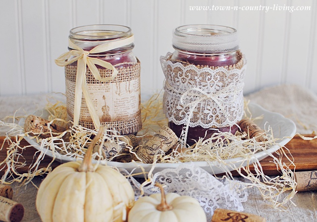 How to make mason jar candles via Town and Country Living