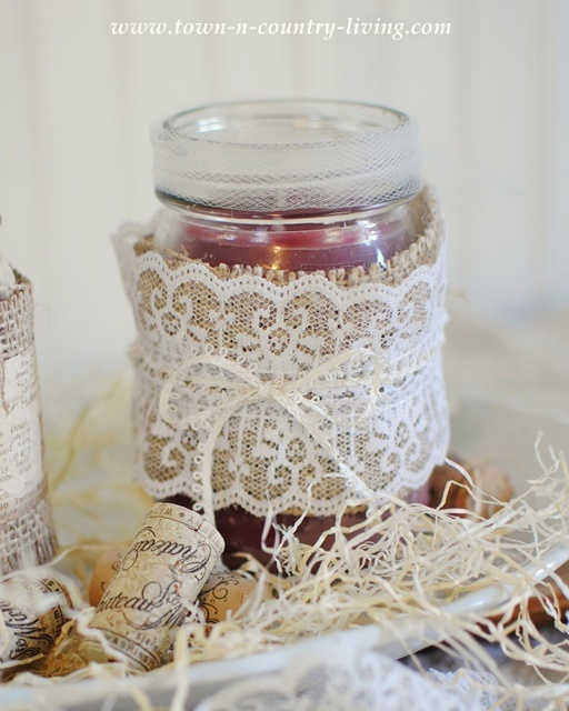 DIY mason jar candle via Town and Country Living