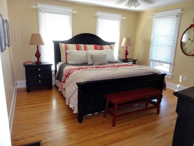 Master bedroom in charming older home