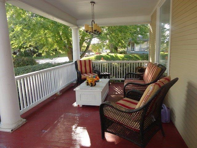 Front porch in Dixon, Illinois