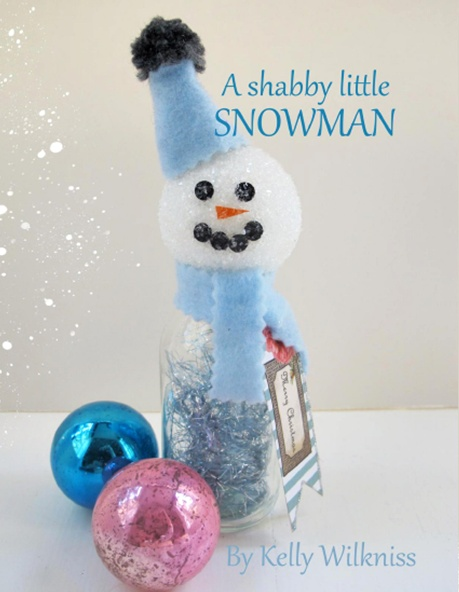 Shabby Little Snowman by My Soulful Home