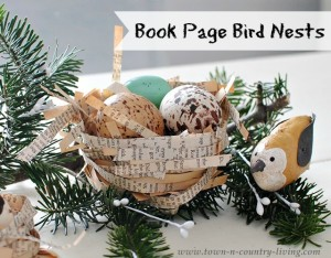How to Make Book Page Bird Nests