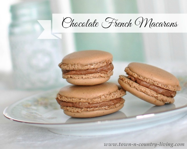 Chocolate French Macarons by Town and Country Living