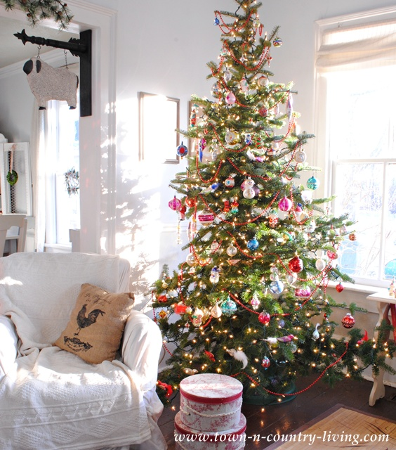 Vintage Christmas Tree at Town and Country Living