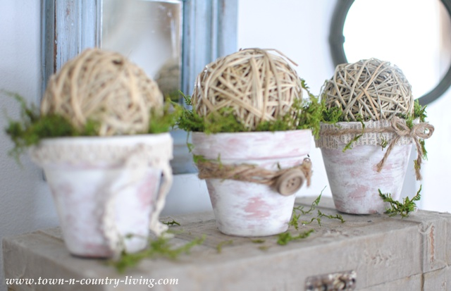 How to make mossy pots at Town and Country Living