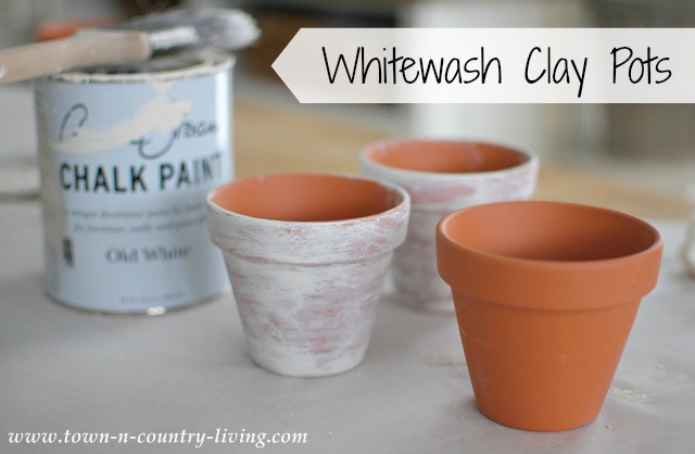 How to Whitewash Clay Pots