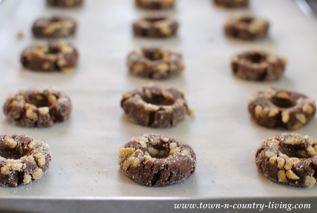 Chocolate Caramel Thumbprint Cookies Recipe