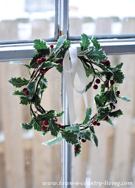 Christmas Holly Wreath at Town and Country Living