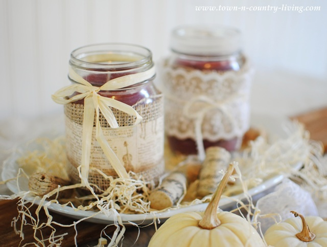 DIY Mason Jar Candles by Town and Country Living