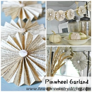 DIY Pinwheel Garland by Town and Country Living