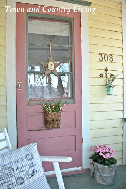 Springtime Farmhouse Porch at Town and Country Living