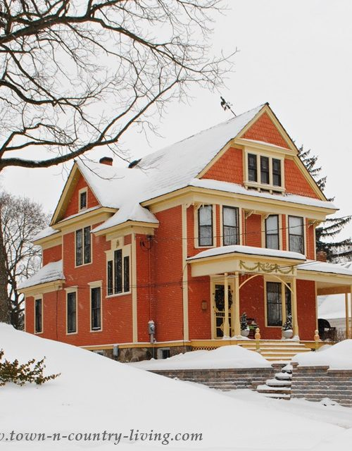 Historic Clapboard Home in Woodstock, Illinois