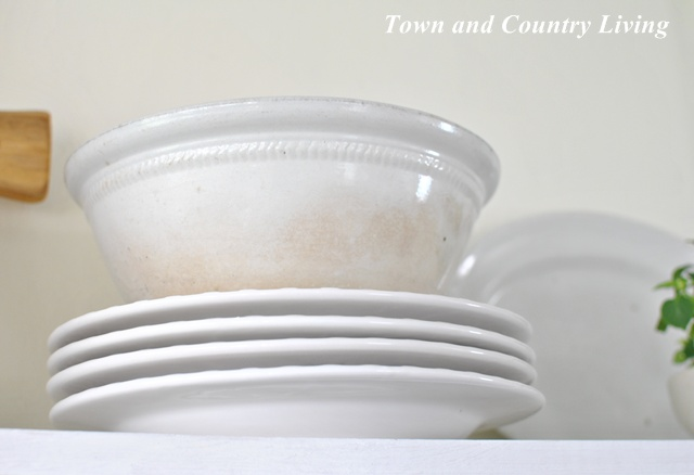 Large White Ironstone Bowl at Town and Country Living