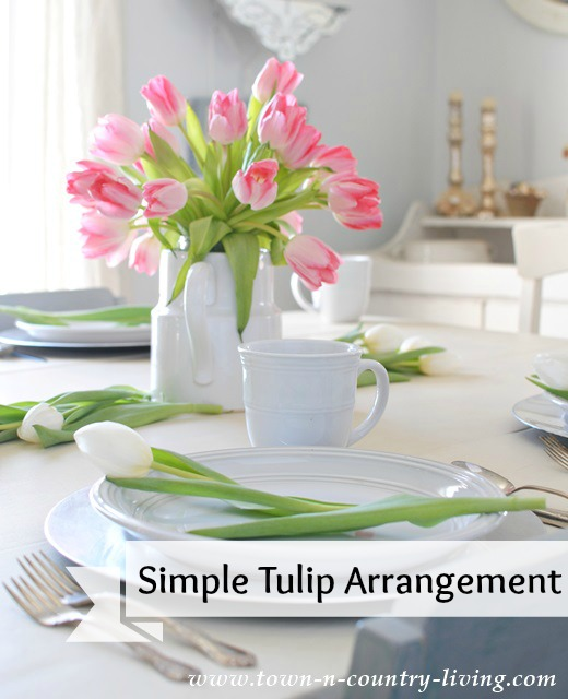 Simple Tulip Arrangement via Town and Country Living